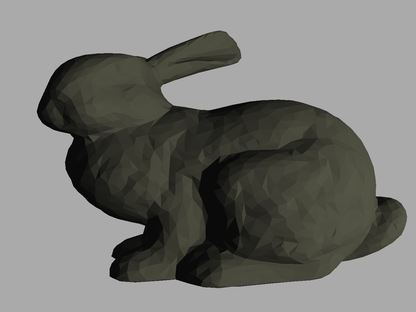 Rendered output of the Stanford Rabbit